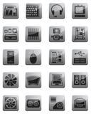 Иконы для вычисляя оборудования Стоковое фото RF