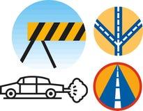 Иконы дороги иллюстрация штока