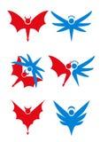 иконы дьявола ангела Стоковые Фотографии RF