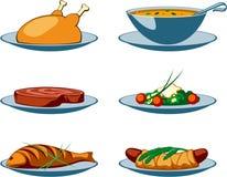 иконы еды главным образом Стоковое Изображение RF