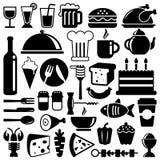 иконы еды Стоковая Фотография RF