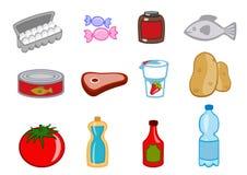 Иконы еды Стоковая Фотография
