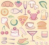 иконы еды Стоковое фото RF