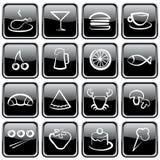 иконы еды Стоковое Фото