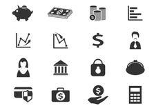 Иконы дела и финансов Стоковое Фото