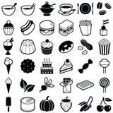 Иконы еды и питья Стоковое Изображение
