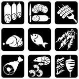 иконы еды Стоковые Изображения