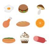 иконы еды Стоковые Фото