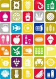 Иконы еды Стоковое Изображение RF