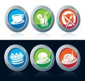 Иконы еды Стоковое Изображение