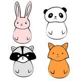иконы животных милые Стоковые Изображения RF