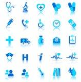 иконы здоровья внимательности Стоковые Изображения