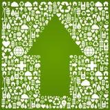 иконы зеленого цвета предпосылки стрелки над символом вверх бесплатная иллюстрация