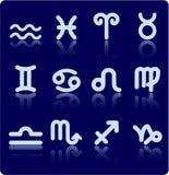 Иконы зодиака стоковые фото