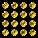 иконы золота падения документа иллюстрация вектора