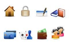иконы зрелищности финансовохозяйственные Стоковые Изображения RF