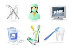 иконы зубоврачевания медицинские Стоковое Изображение RF