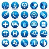 иконы здоровья внимательности Стоковые Изображения RF