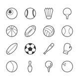 иконы игр большинств популярный вектор спорта комплекта Стоковое Изображение