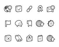 Иконы интернета и вебсайта Стоковая Фотография
