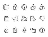 Иконы интернета Стоковые Фото