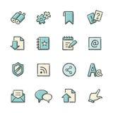 Иконы интернета Стоковые Фотографии RF