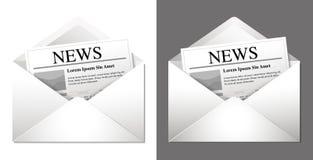 Иконы информационого бюллетеня Стоковое Изображение