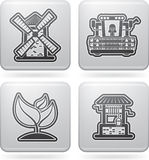 Иконы индустрии: Земледелие Стоковая Фотография RF