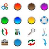 Иконы и кнопки 05.11.12 Стоковые Изображения