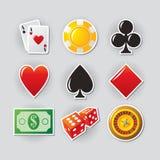 иконы казино Стоковое фото RF