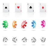иконы казино Стоковое Изображение RF