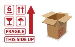 иконы картона коробки иллюстрация вектора