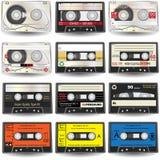 иконы кассеты Стоковое Фото