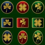 иконы клеверов Стоковое Изображение RF