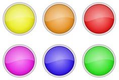 иконы кнопки установили Стоковые Фотографии RF