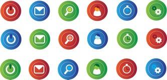 иконы компьютера малые Стоковое Фото