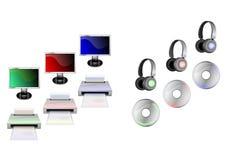 Иконы компьютера Стоковое Фото
