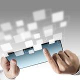 иконы компьютера tablet фактически Стоковые Изображения RF