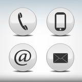 Иконы контакта Стоковое Изображение RF