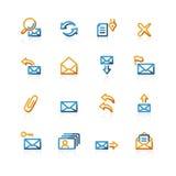 иконы контура пересылают сеть Стоковые Фотографии RF