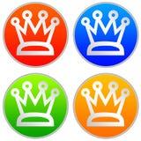 иконы королевские Стоковые Изображения