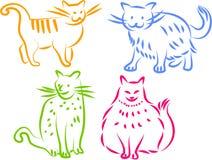 иконы кота Стоковое Изображение RF