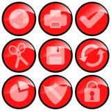 иконы красные Стоковое Изображение
