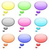 иконы кругов пузыря установили глянцеватой Стоковое Изображение RF