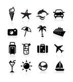 Иконы лета Стоковое Изображение RF