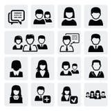 Иконы людей Стоковое фото RF