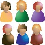 Иконы людей стоковая фотография rf