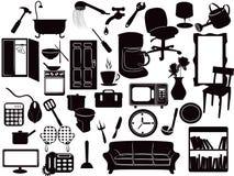 иконы мебели Стоковые Изображения