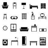 иконы мебели Стоковые Изображения RF
