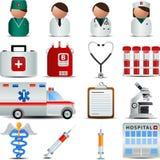 иконы медицинские Стоковые Изображения